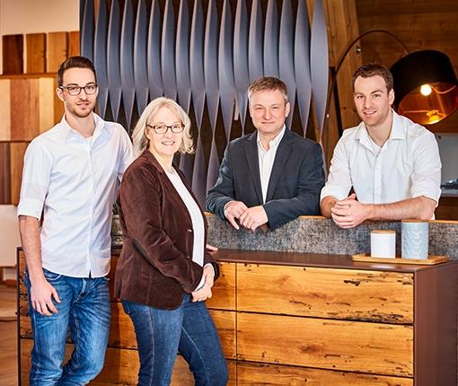 Steffen, Birgit, Hans und Florian Bauereiß von der Schreinerei Bauereiß in Bad Windsheim
