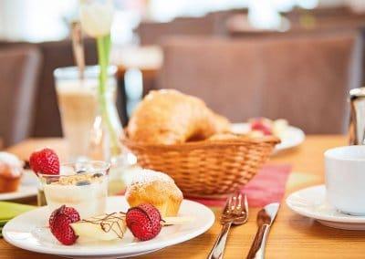 Selbstgemachtes Frühstück im Vital Hotel an der Therme Bad Windsheim