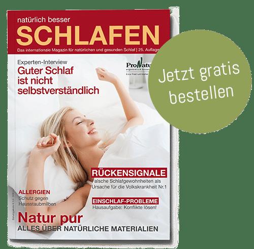ProNatura Schlafmagazin kostenlos bestellen bei der Schreinerei Bauereiß