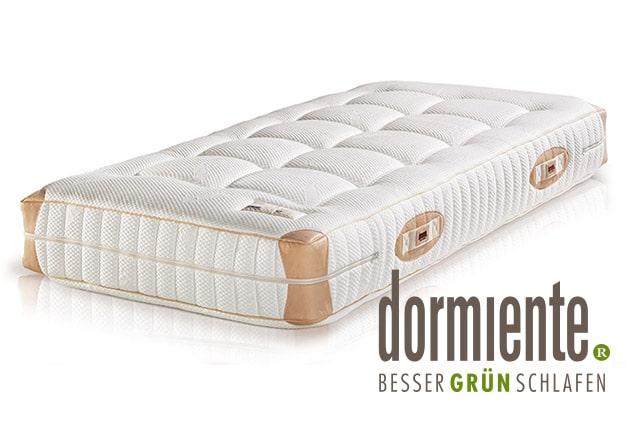 Dormiente Natural Deluxe Matratze mit dormiente-Logo