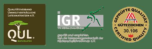 QUL-, iGR-Logo und Austria-Gütezeichen