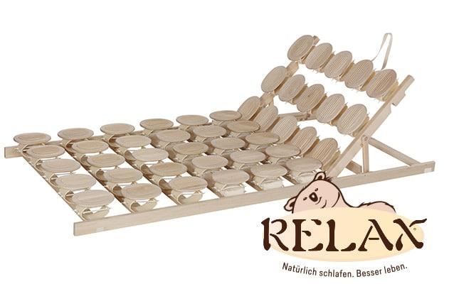 Relax 2000 Schlafsystem mit Sitzhochstellung mit Relax-Logo