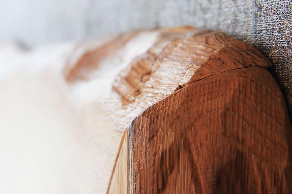 Baumkante aus Eiche vom Zirbenbett Silva