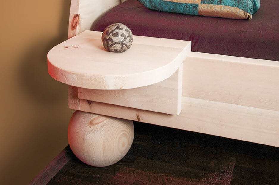 Zirbenholz-Nachttisch passen für Zirbenbett Sonne