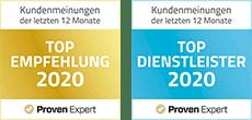 ProvenExpert Auszeichnung Top Empfehlung und Top Dienstleister Schreinerei Bauereiß Schlafwelt